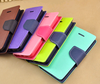 Multi Colored PU Leather Wallet Credit Card Case For iPhone 4 4S 5 5S 6 6Plus