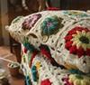 Square decorative home decor handmade crochet cushion cover
