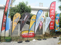 Teardrop/ Feather/ Rectangle Polyester Outdoor Advertising Flag