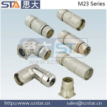 M23 waterproof straight and right angle connector, M23 connector