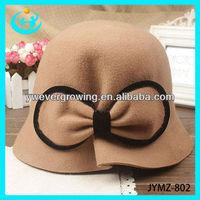 bucket hat lady bowknot hat