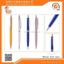 multicolor silver clip metal ball pen