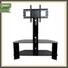 living room tv showcase designs stainless steel glass lcd TV stand RA031
