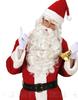 2015 Christmas white long synthetic hair santa clause fake beard, party fake beard moustache