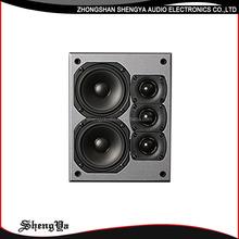 New fashionable dj bass dj ibastek speaker, av surround speaker 1 inch tweeter 4 inch mid bass LCR222V2 dj speaker