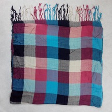 Plaid woven twill edging long viscose routine scarf the south city of china factory