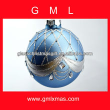 Glass Ball Manufacture, Xmas ornament, Christmas Glass Ball supply with aluminum cap
