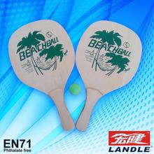 raqueta de playa de madera