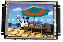 "Olink 12.1"" industrial frameless lcd touch monitor with VGA, AV, HDMI, DVI Inputs"