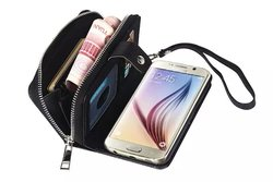 Zipper leather case for samsung galaxy s6,for samsung galaxy s6 case