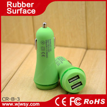double 2.1A crystal usb car charger with CE FCC Rohs