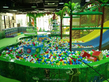 slide for kids playing as theme park indoor ground with forest theme