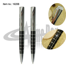 New Ballpoint Pen Hight Qualtiy Square barrel Checker Pattern Metal Twist Mechanism Ball Pen