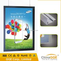 LED ultra slim light box, Internal, Aluminous frame, Magnetic type, Double sides, Edge lit.