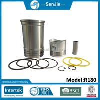 farm machinery single cylinder diesel engine parts S195 Liner piston set