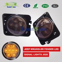 Jeep Wrangler JK LED black Smoked Front Turn Signal light