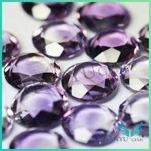 Doble natural cristal de roca cuarzo amatista precios piedra Facetas