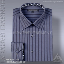 wholesale mens 100 cotton long sleeve stripe dark/different color bueiness formal shirt