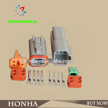 4 pin auto electric plastic connector plug and auto seal rubber 4 pin male female wire connector DT06-4S AND DT04-4P
