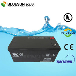 Solar system used High efficiency 12v 200ah agm/gel cycle battery