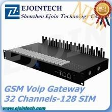 Hotsale 32 channels 32/128 sim cards sms sending device asterisk voip gsm gateway