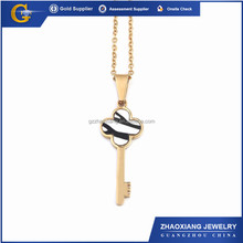 ERP0369 Stainless steel Gold enemal Key chain pendant with charms