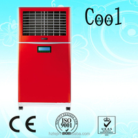 Environmental honeycomb air cooler with water curtain