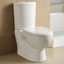Ceramic P-Trap Washdown Two Piece Economic Coner Toilet Bowl (ET-J1203)