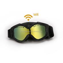 Full hd 1080p wireless goggles with camera, wifi ski goggles camera to smart mobile phones