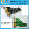 ES1373 4 channel Sound card/ CS4280 4 channel SOUND CARD/ 4 Channel Audio card / Direct Sound 3D hardware/ PCI Sound Card