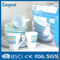plastic melamine dinnerware sets