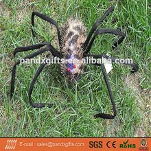 SPIDER WIHT BROWN SHINNING LIGHTS FOR HALLOWEEN GARDEN DECORATION