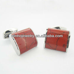 316l stainless steel red cuff link