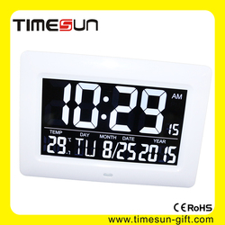 """Antique Table clock with Temperature 7"""" LCD screen with High quality VA glass"""