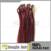 TH-066 Hot Sale 100 Keretin Tipped Human Hair Extension Genuine Raw Pre-Bonded Ring-X Indian Virgin Human Hair Extensions