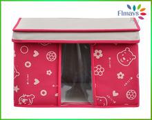 fresh design visible non woven storage box