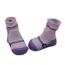 GSB-90 China Factory Made To Order Purple like Shoes Cotton Girl Infant Baby Socks