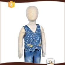 Baby boys sleeveless beggar 100% cotton denim vest