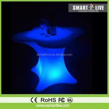 glow bar desk/led bar glass top/illuminated led bar table