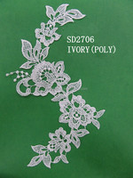 Lace for wedding dress, spot goods crochet net floral lace