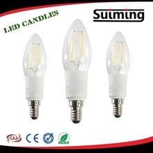 E14 1.8W 2W led Tungsten filament candle COB bulb