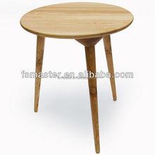 end table side table three legs wood table