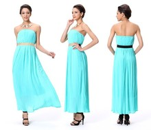 Latest Design Wholesale Maxi Emerald Dress Green