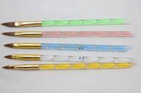 Acrylic Brush Tip Beauty Spiral Design Handle Acrylic pens 5pcs Professional cosmetics brushes