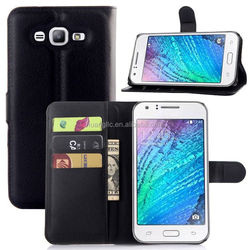 Wholesale Book style stand pu leather case cover for samsung galaxy j7 provide sample