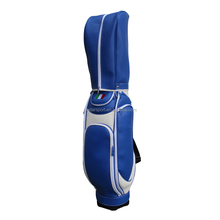 New Design Top Quality Blue PU Leather Golf Bag