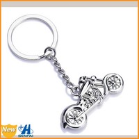 Best selling fashion jewelry 2015 metal alloy silver plated custom motorcycle keychain