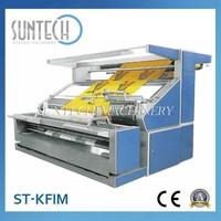 SUNTECH Open Width Knitted Textile Cheaking Machine,Fabric Inspection Machine