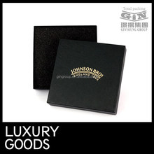 Black art paper with gold foil logo handmade boxes