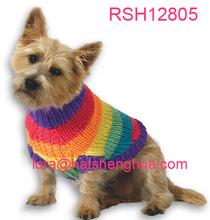 (RSH12805) Rainbow Knit Pet Dog Sweater